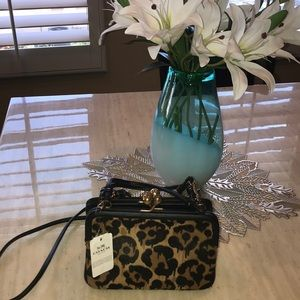 Coach purse leopard!  NWT!  Originally $695!